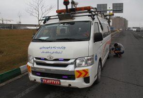 برای اولین بار در تبریز اسکن روسازی آسفالت اتوبان پاسداران توسط دستگاه LCMS