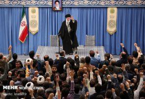 هزاران نفر از مردم آذربایجان شرقی با رهبر انقلاب دیدار کردند