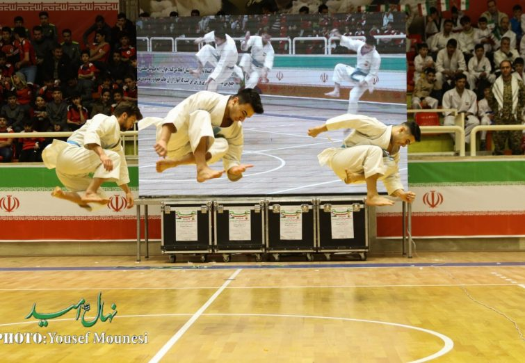 مراسم افتتاحیه اولین دوره مسابقات ورزشی جام پرچم یادواره سردار سپهبد حاج قاسم سلیمانی