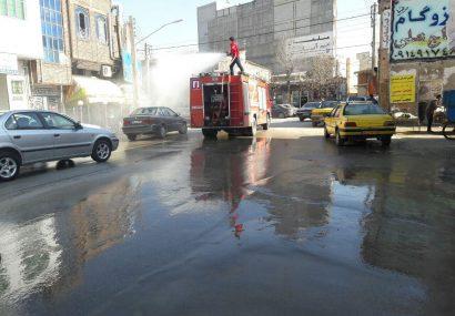 مصرف ۵۰ هزار لیتر مواد ضدعفونی در شهرستان عجبشیر