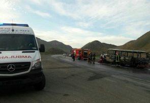 حادثه رانندگی در محور میانه- زنجان/ ۱۰ نفر مصدوم و ۱ نفر کشته شد
