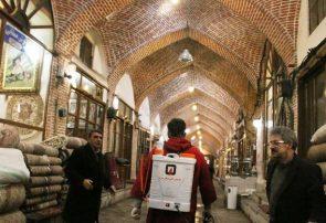 تداوم ضد عفونی بازار تاریخی تبریز در روزهای آینده