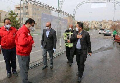 تونل ضدعفونی خودرو در تبریز رونمایی شد