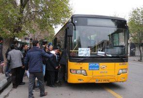 خطر کرونا با ازدحام در اتوبوسهای درونشهری تبریز