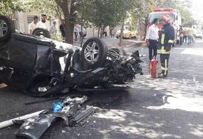 سقوط خودرو از پل توانیر تبریز، یک مصدوم بر جای گذاشت