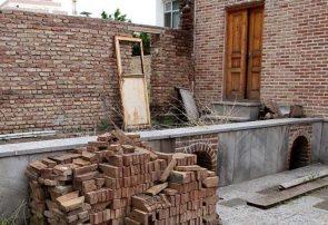 آواربرداری بخشهای مستهلک خانه تاریخی «علی مسیو» در تبریز آغاز شد