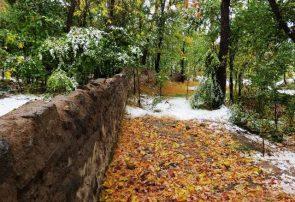 بارش اولین برف پاییز ۹۹ در آذربایجان شرقی