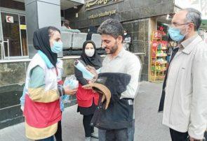 تذکرهای کرونایی آمران سلامت هلال احمر در خیابانهای تبریز