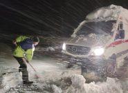 راه ارتباطی ۱۲۰ روستای هشترود مسدود شد