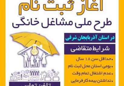 ثبتنام بیش از ۲۹۰۰ نفر در طرح ملی مشاغل خانگی در آذربایجان شرقی