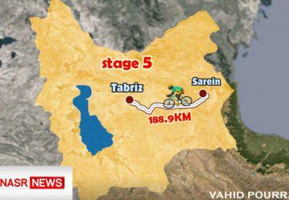 رقابت ۶۹ رکابزن در مرحله آخر سی و چهارمین دوره تور بین المللی ایران- آذربایجان