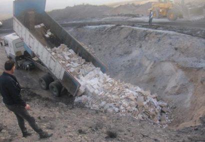 معدومسازی۲۰ تن تخم مرغ غیربهداشتی در شهرستان بستان آباد