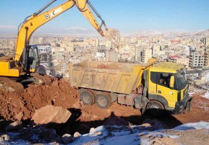 اجرای عملیات پاکسازی و تسطیح محله خلیلآباد توسط سازمان مدیریت پسماند