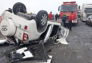 سانحه رانندگی در اتوبان تبریز- زنجان ۲ کشته برجا گذاشت