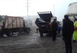 ماشین آلات جمع آوری پسماند و باکس های زباله مناطق ۱۰گانه تبریز ضد عفونی شد