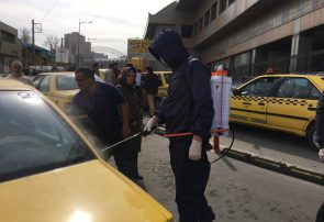 ایستگاه ثابت ضدعفونی تاکسی در تبریز راه اندازی شد